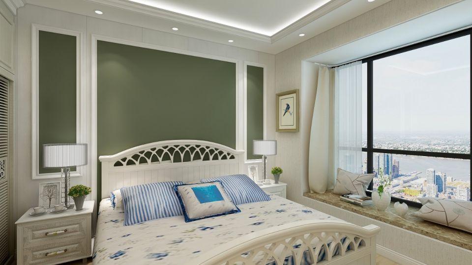 卧室床简欧装潢实景图