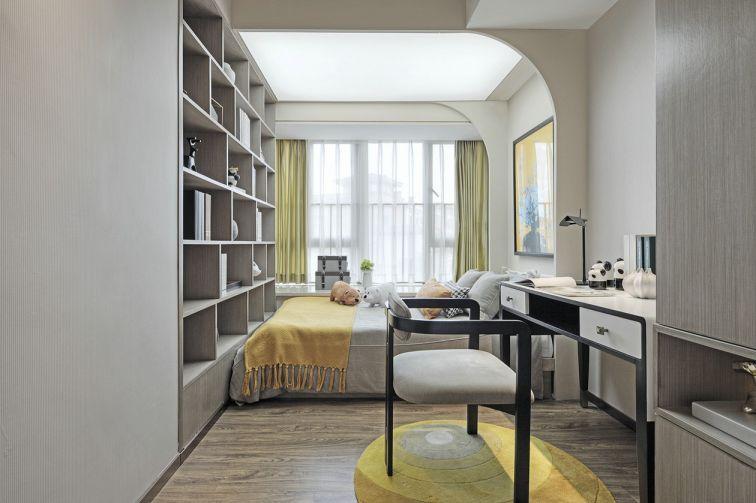 卧室咖啡色书架室内装饰