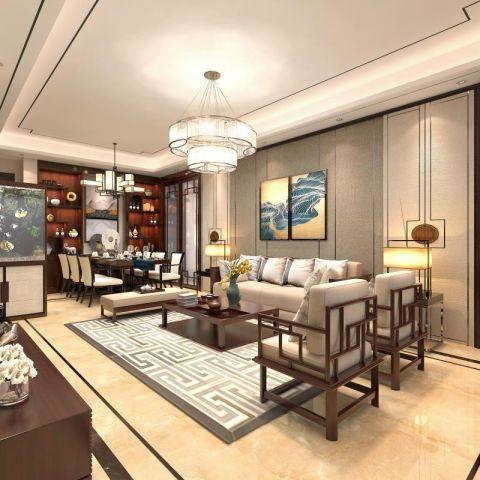 2020新中式90平米装饰设计 2020新中式四居室装修图