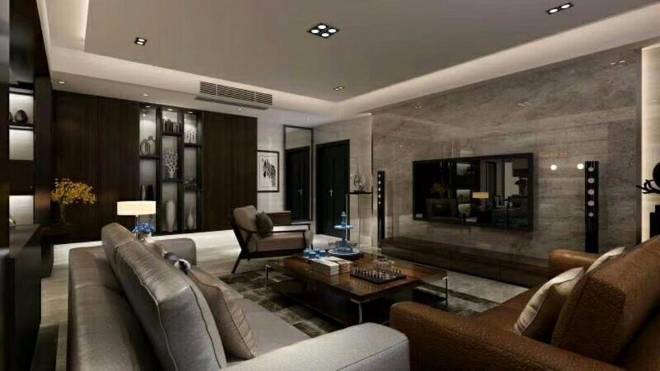 110平现代风格三居室装修效果图