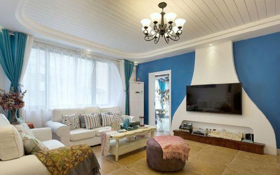 100平地中海风格两居室装修效果图
