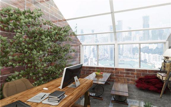 65平工业风格公寓装修效果图