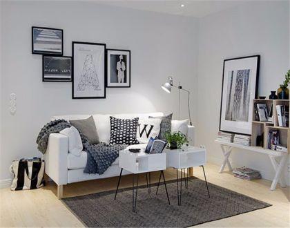 48平简约风格一居室装修效果图