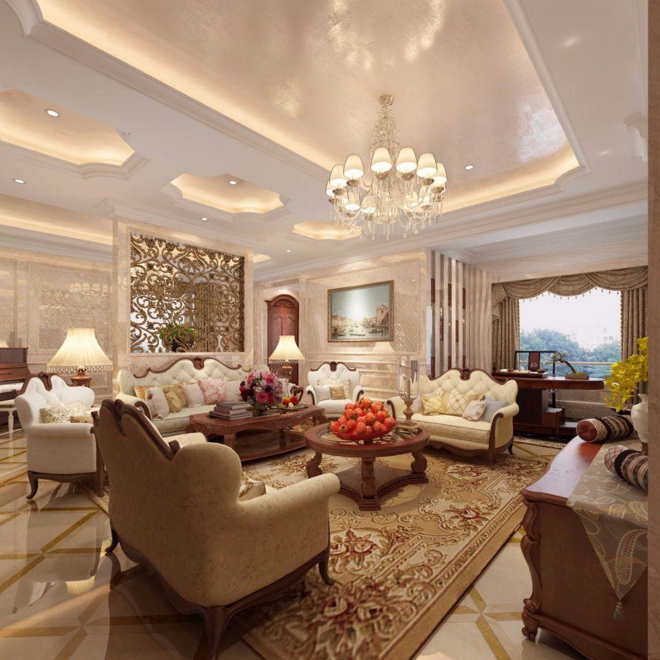 2020中式300平米以上装修效果图片 2020中式别墅装饰设计