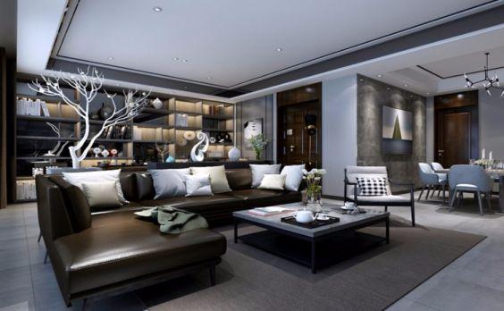 2019现代中式150平米优乐娱乐官网欢迎您 2019现代中式二居室u乐娱乐平台设计