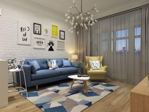 95平北欧风格两室两厅装修效果图
