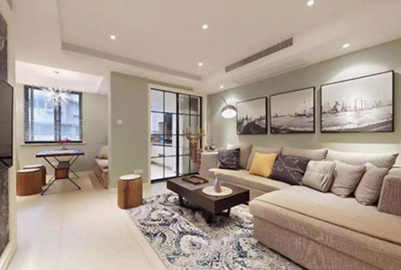 87平现代简约风格两室一厅装修效果图