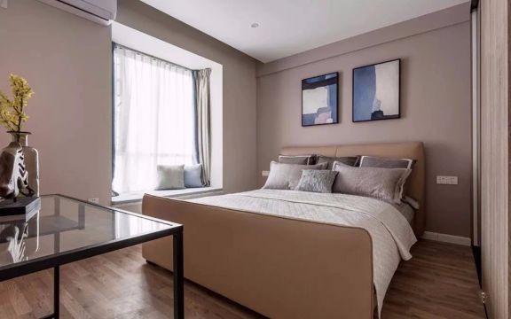 沉稳卧室新中式装饰设计图片