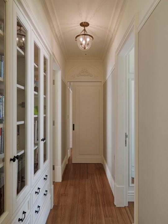 玄关白色走廊美式风格装修效果图