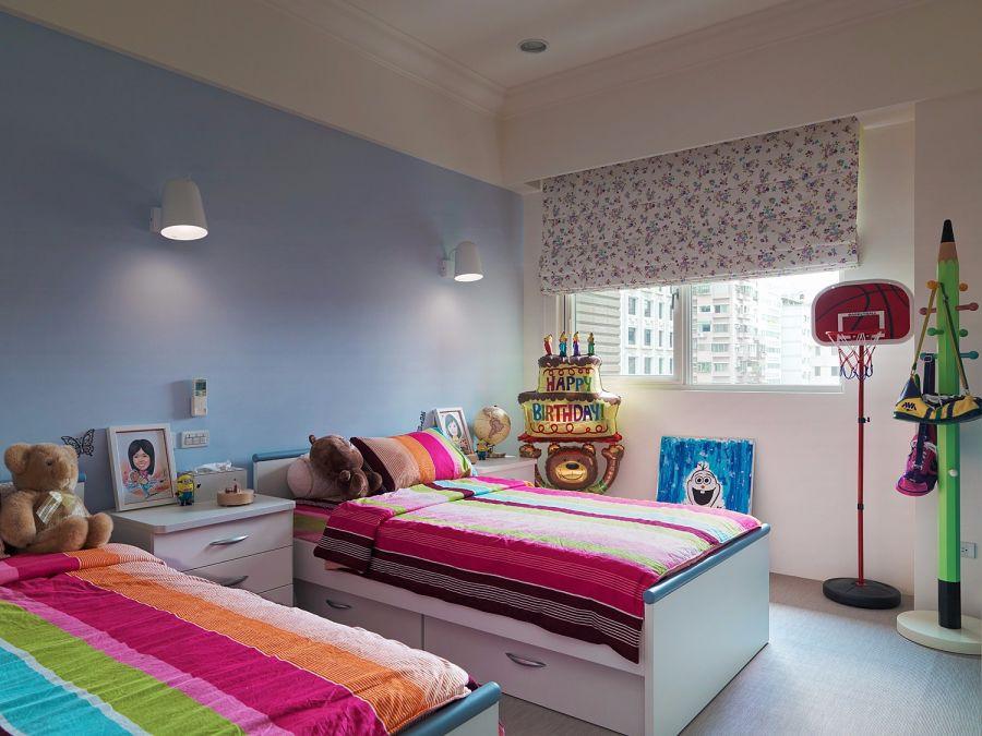豪华蓝色儿童房装修设计