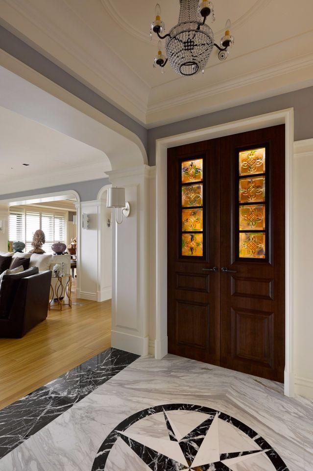 玄关门厅美式风格装潢设计图片