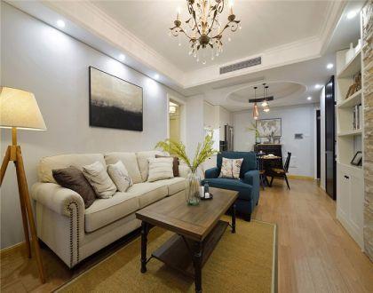 94平美式风格两居室装修效果图