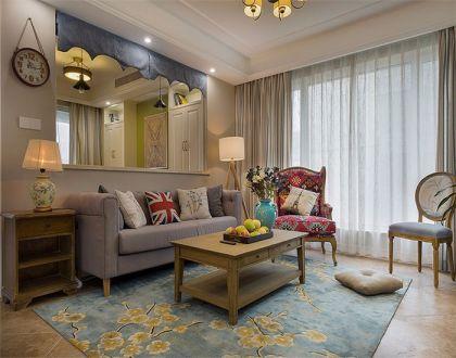 131平美式风格三居室装修效果图