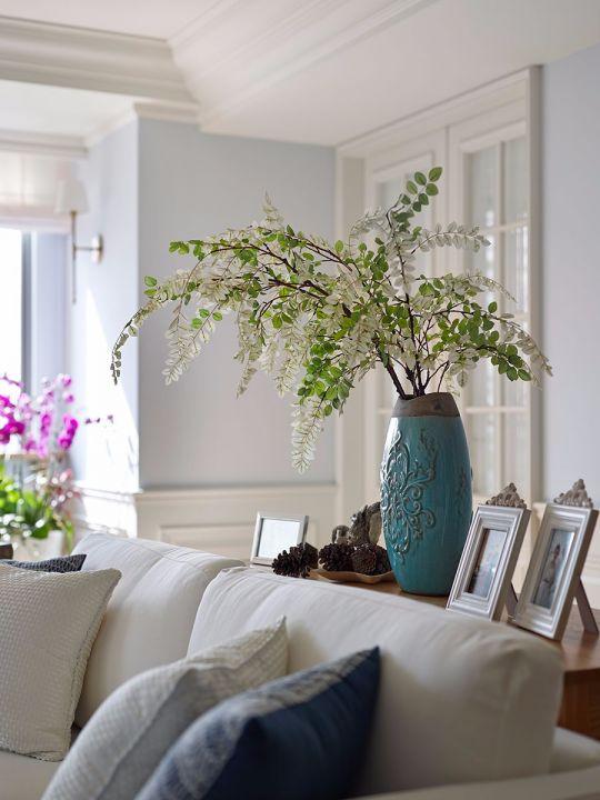 优雅绿色客厅装饰设计图片