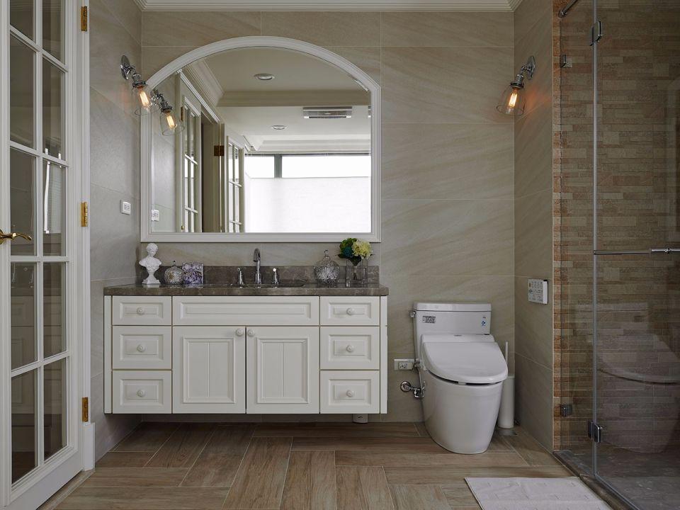 休闲美式灰色洗漱台室内装修图片