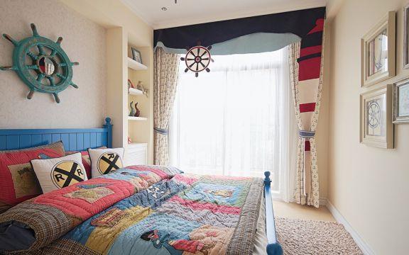 儿童房照片墙地中海风格装潢图片