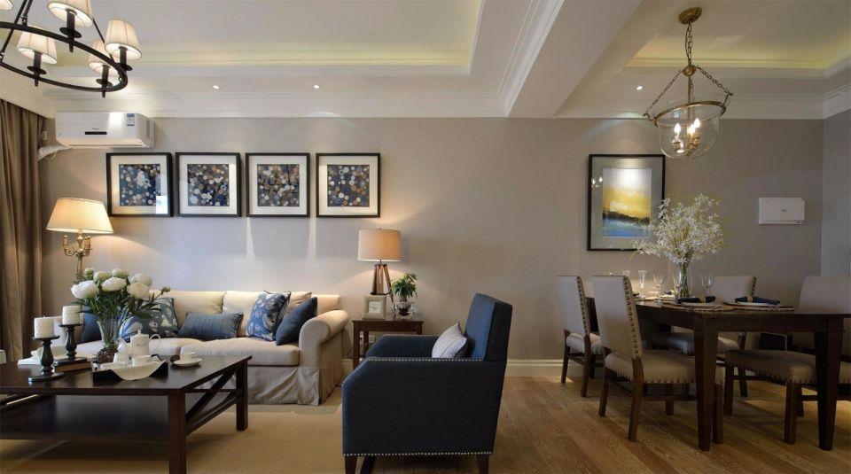 113平美式风格三居室装修效果图