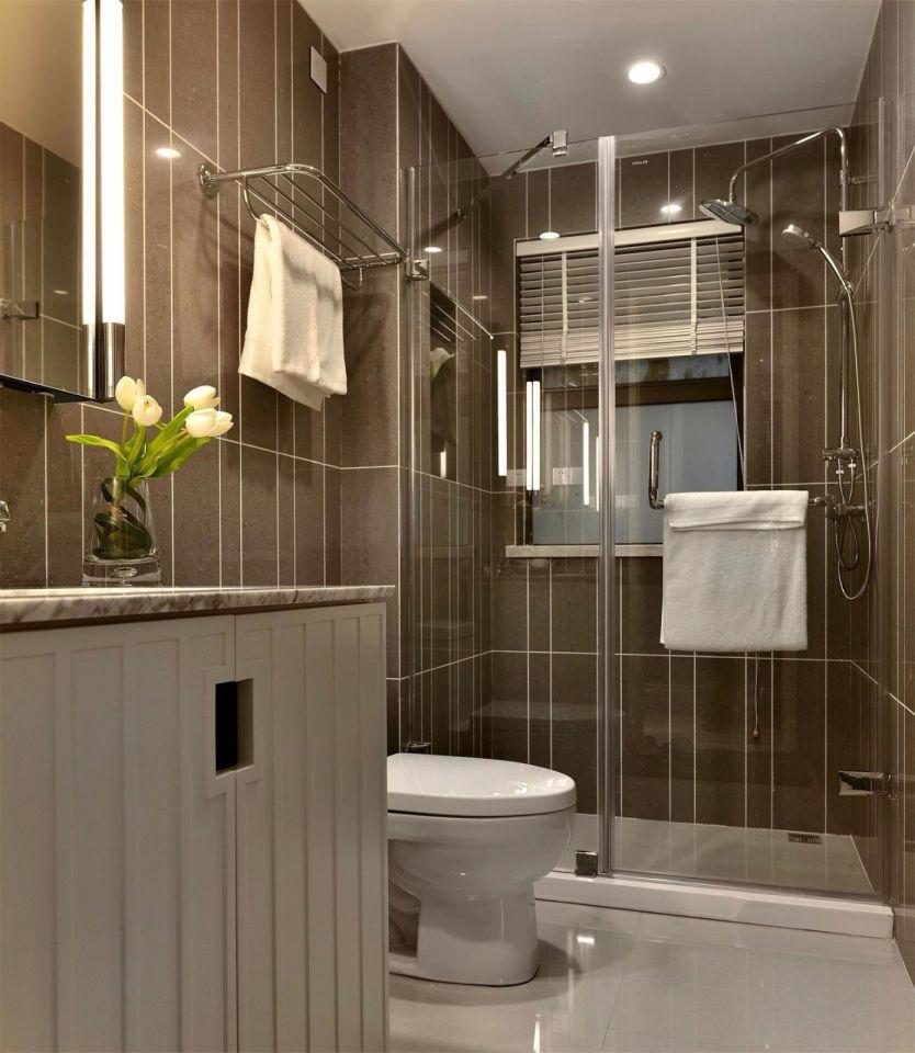 卫生间背景墙美式风格装饰效果图