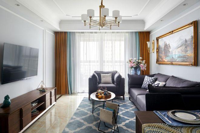 118平混搭风格三居室装修效果图