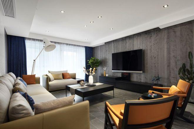 80平现代风格三居室装修效果图