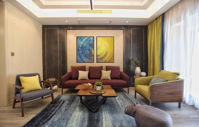 173平现代简约风格三室两厅装修效果图