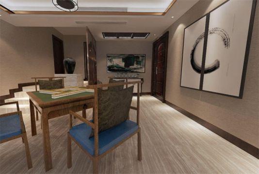 2020中式起居室装修设计 2020中式地砖设计图片