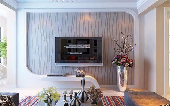 客厅地砖现代简约风格装潢效果图