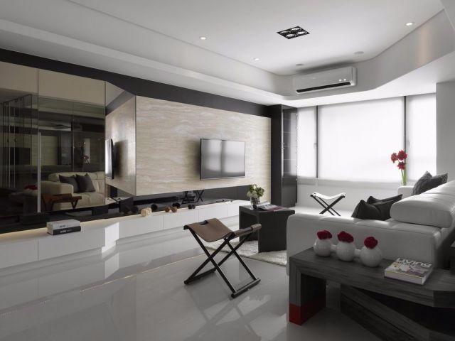 81平现代风格套房装修效果图