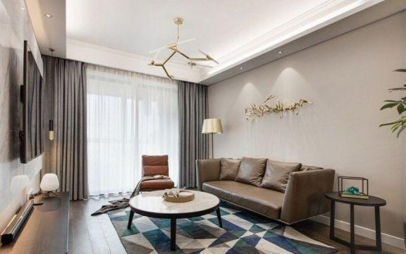 115平现代简约风格两居室装修效果图