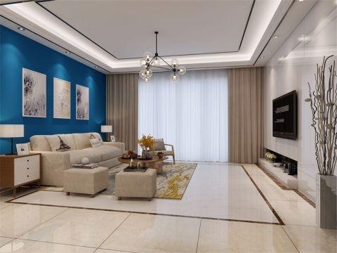 140平简欧风格两居室装修效果图