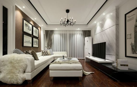 131平现代简约风格两居室装修效果图