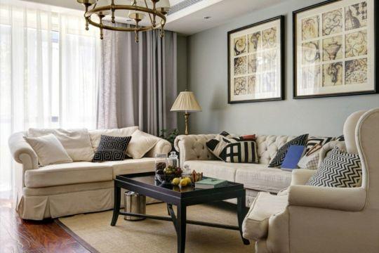 113平欧式风格两居室装修效果图