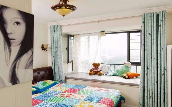 清新素丽蓝色女生卧室室内u乐娱乐平台设计