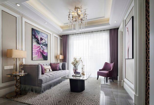 法式風格100平米兩室兩廳新房裝修效果圖