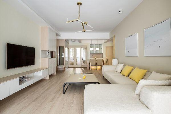 简约风格120平米三室两厅新房装修效果图