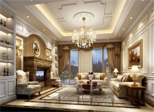 欧式风格230平米别墅新房装修效果图