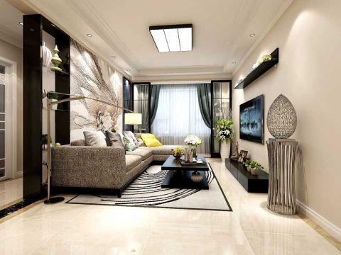 现代简约风格60平米两室两厅新房装修效果图