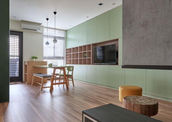 现代风格100平米复式新房装修效果图