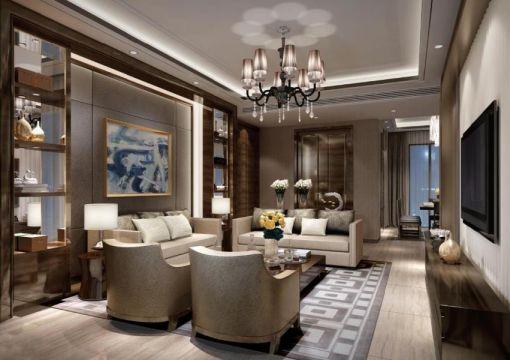 新古典风格140平米两室两厅新房装修效果图