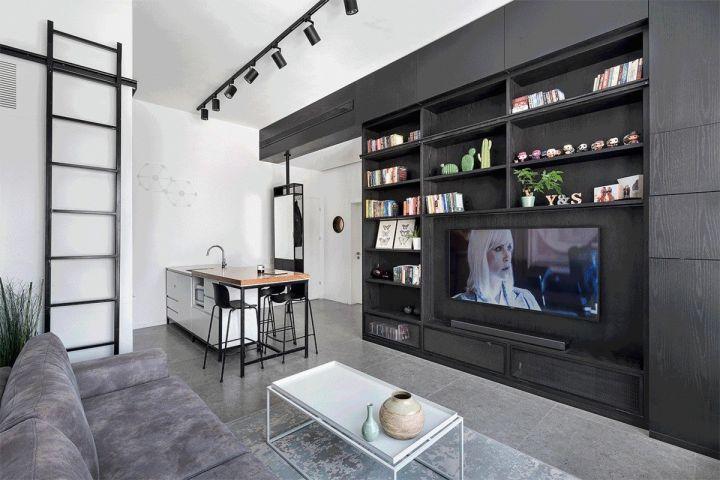 44平简约风格公寓装修效果图
