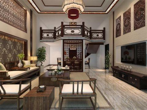 新中式风格208平米别墅室内装修效果图