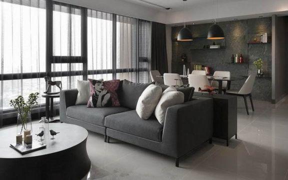 优雅灰色沙发装潢设计图片