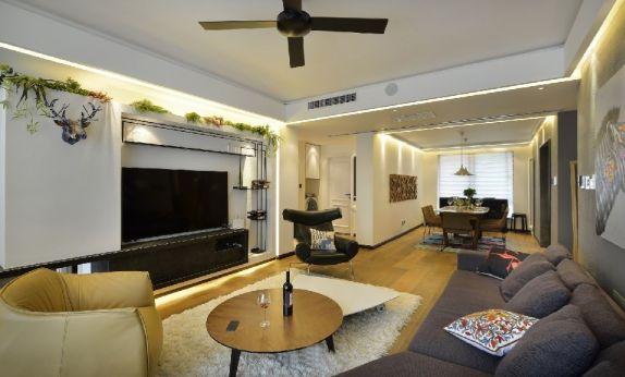 简约风格93平米三室两厅新房装修效果图