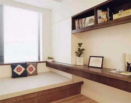 书房咖啡色榻榻米露台案例图片