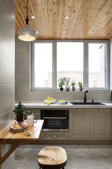 廚房不銹鋼櫥柜混搭平面圖
