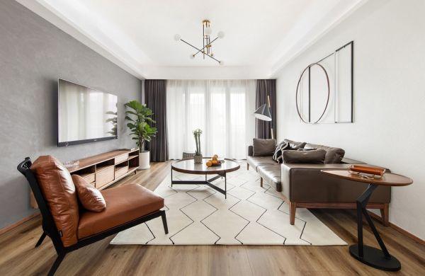混搭風格100平米兩室兩廳新房裝修效果圖