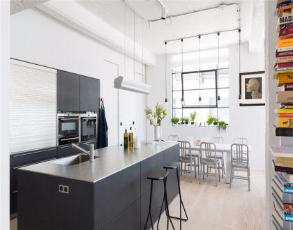 厨房灰色厨房岛台简约风格装饰效果图