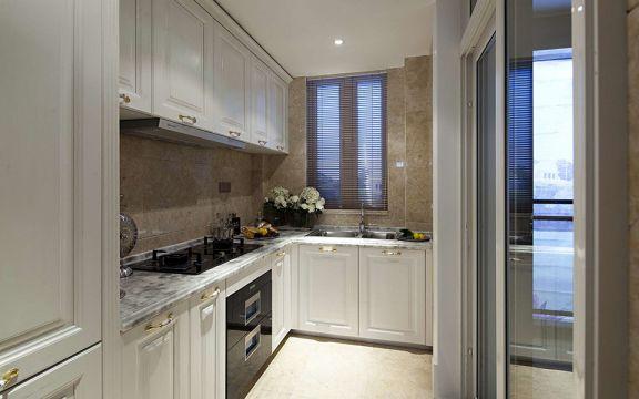 厨房米色橱柜田园风格装潢效果图