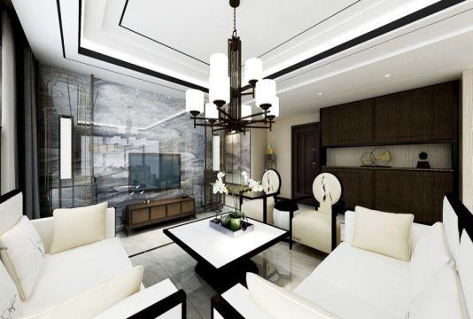 2021中式240平米装修图片 2021中式三居室装修设计图片