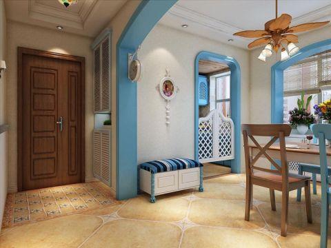 玄关黄色门厅地中海风格装潢效果图